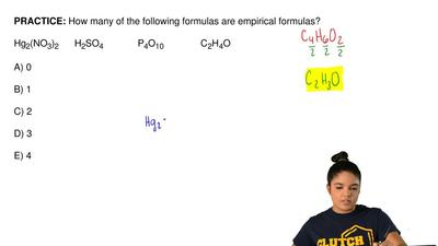How many of the following formulas are empirical formulas?  Hg2(NO3)2      H2S...