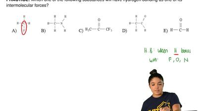 Which one of the following substances will have hydrogen bonding as one of its...