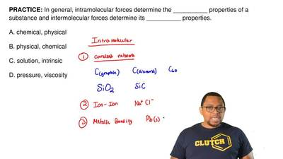 In general, intramolecular forces determine the __________ properties of a sub...