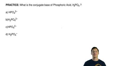 What is the conjugate base of Phosphoric Acid, H3PO4 ?  a) HPO42–  b)H2PO42–  ...