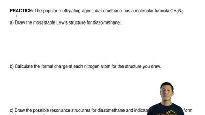 The popular methylating agent, diazomethane has a molecular formula CH 2N2.  a...