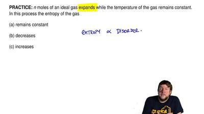 n moles of an ideal gas expands while the temperature of the gas remains const...