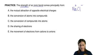 The strength of an ionic bond comes principally from:  A. the mutual attractio...