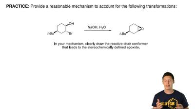 Provide a reasonable mechanism to account for the following transformations: ...