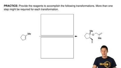 Provide the reagents to accomplish the following transformations. More than on...