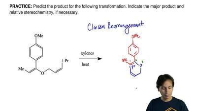 Predict the product for the following transformation. Indicate the major produ...