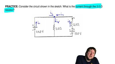 Consider the circuit shown in the sketch. What is the current through the 3.0 ...