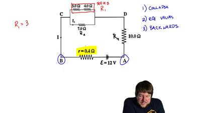 Four resistors are connected as shown in the figure to a battery with emf ε = ...
