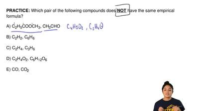 Which pair of the following compounds does  NOT have the same empirical formul...