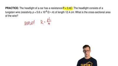 The headlight of a car has a resistance R = 3.4Ω. The headlight consists of a ...