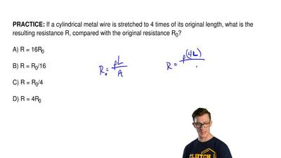 If a cylindrical metal wire is stretched to 4 times of its original length, wh...