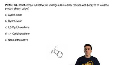 What compound below will undergo a Diels-Alder reaction with benzyne to yield ...