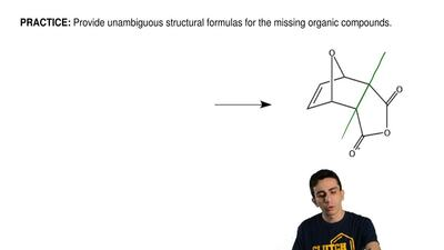 Provide unambiguous structural formulas for the missing organic compounds.  ...