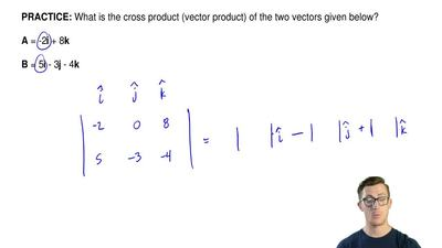 What is the cross product (vector product) of the two vectors given below?  A ...