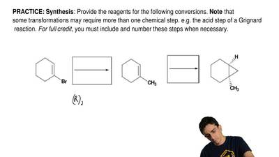 Synthesis: Provide the reagents for the following conversions.  Note that some...