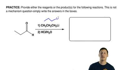 Provide either the reagents or the product(s) for the following reactions. Thi...