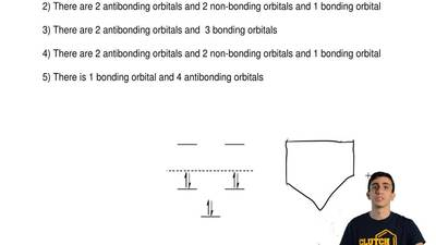 For the energy diagram shown below:  1) There are 3 antibonding orbitals and ...