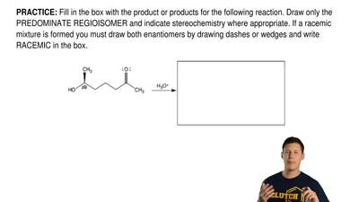 Fill in the box with the product or products for the following reaction. Draw ...