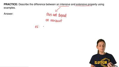 Describe the difference between an intensive and extensive property using exam...