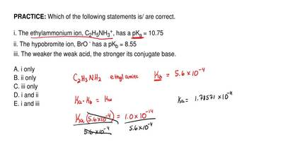 Which of the following statements is/ are correct.  i. The ethylammonium ion, ...