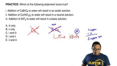 Which of the following statement is/are true?  i. Addition of CsBrO4 to water ...