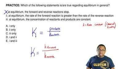 Which of the following statements is/are true regarding equilibrium in general...