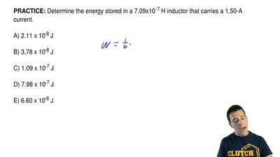 Determine the energy stored in a 7.09x10-7H inductor that carries a 1.50-A c...