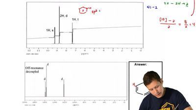 A compound with a molecular formula C4H4N2has the following1H-NMR spectrum. ...