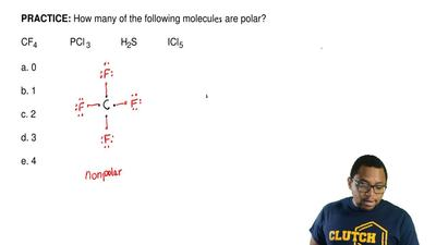 How many of the following molecular are polar?  CF4       PCl 3    ...