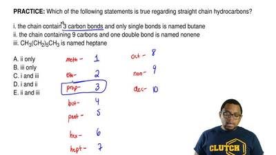 Which of the following statements is true regarding straight chain hydrocarbon...
