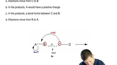 The following is a generic depiction of a reaction using the curved arrow form...