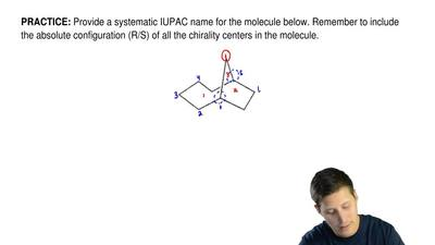 Provide a systematic IUPAC name for the molecule below. Remember to include th...