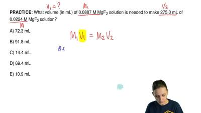 What volume (in mL) of 0.0887 M MgF 2 solution is needed to make 275.0 mL of 0...