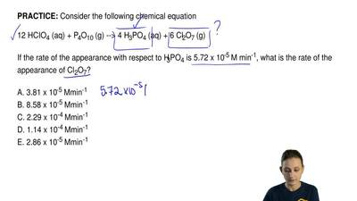 Consider the following chemical equation  12 HCIO4 (aq) + P4O10 (g) --> 4 H...