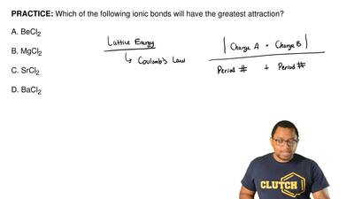 Which of the following ionic bonds will have the greatest attraction?  A. BeCl...
