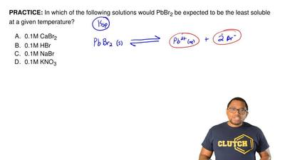 In which of the following solutions would PbBr 2 be expected to be the least s...