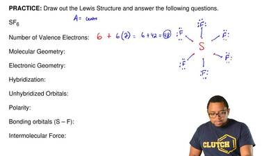 Draw out the Lewis Structure and answer the following questions.  SF6    ...