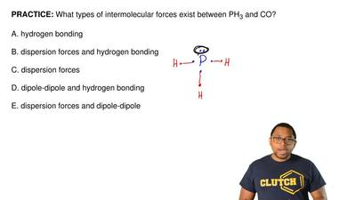 What types of intermolecular forces exist between PH 3 and CO?  A. hydrogen bo...