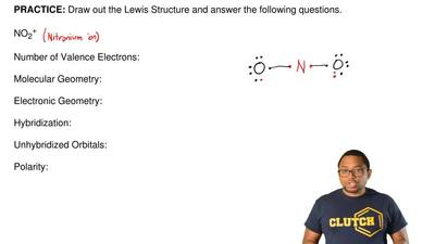 Draw out the Lewis Structure and answer the following questions.  NO2+  Numbe...