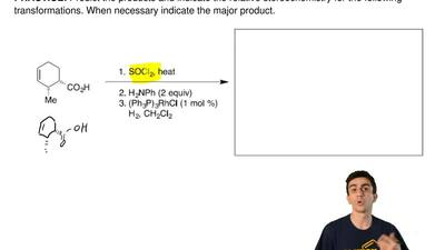 Predict the products and indicate the relative stereochemistry for the followi...