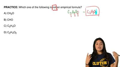 Which one of the following is not an empirical formula?  A) CH2O  B) CHO  C) C...