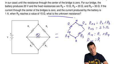 In the following figure, the configuration of resistors is known as a Wheatsto...