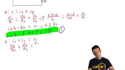 In the following circuit,V= 25 V, R1= 5Ω,R2= 15Ω,R3= 25Ω,R4= 10Ω, ...