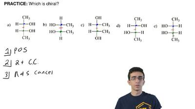 Which is chiral? ...