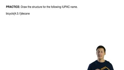 Draw the structure for the following IUPAC name.  bicyclo[4.3.1]decane ...