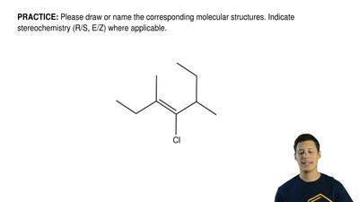 Please draw or name the corresponding molecular structures. Indicate stereoche...