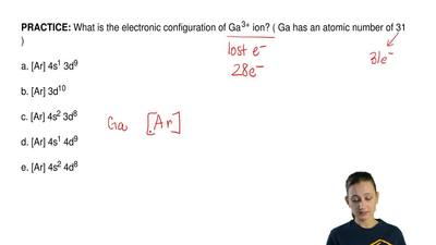 What is the electronic configuration of Ga 3+ ion? ( Ga has an atomic number o...