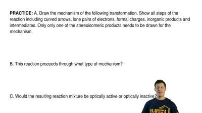 A. Draw the mechanism of the following transformation. Show all steps of the r...