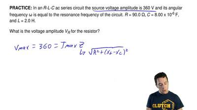 In anR-L-Cac series circuit the source voltage amplitude is 360 V and its an...