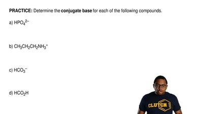 Determine the conjugate base for each of the following compounds.   a) HPO42– ...